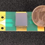 K-band micromachined Filter mounted on a test board (SMD)