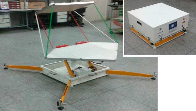 Ku-band deployable Reflectarray antenna for portable satellite user-terminal for SATCOM fly-away application